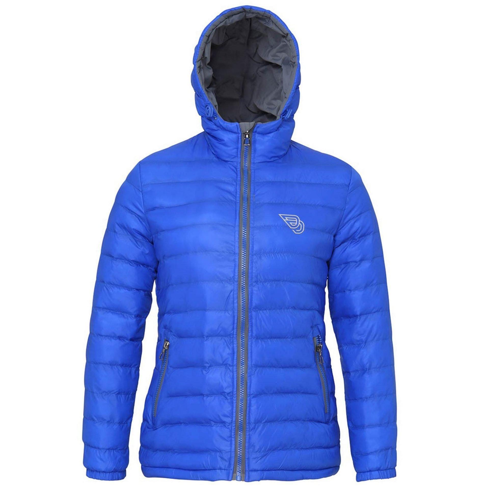 cffaaca4cda4e8 DD Logo Padded Jacket - Womens Blue - Double Drop Apparel
