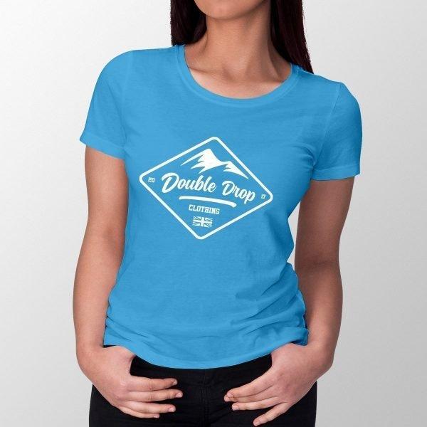 WomensDoubleDropMountainBadge_TshirtBlue