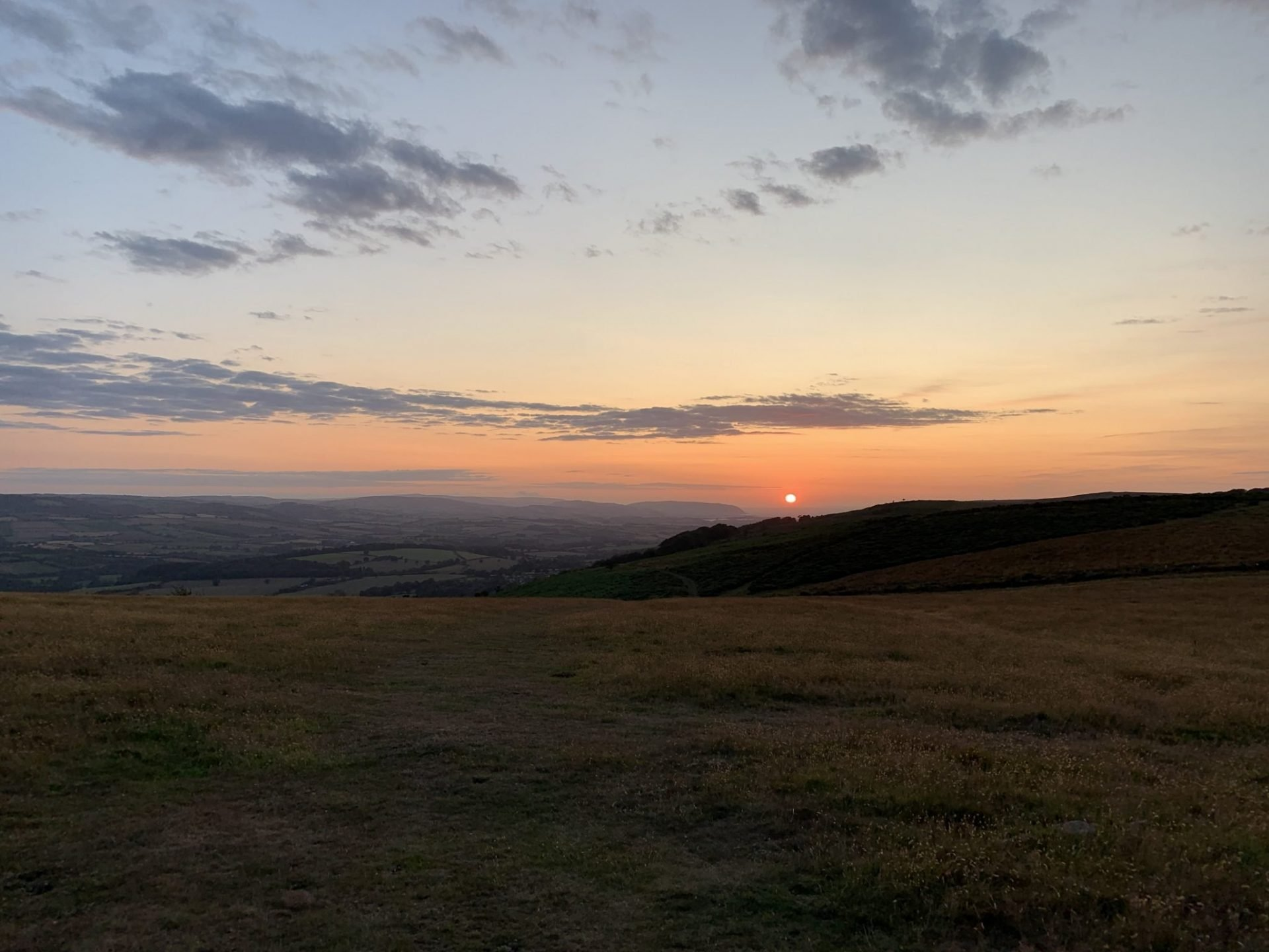 Triscombe southern enduro race sunset