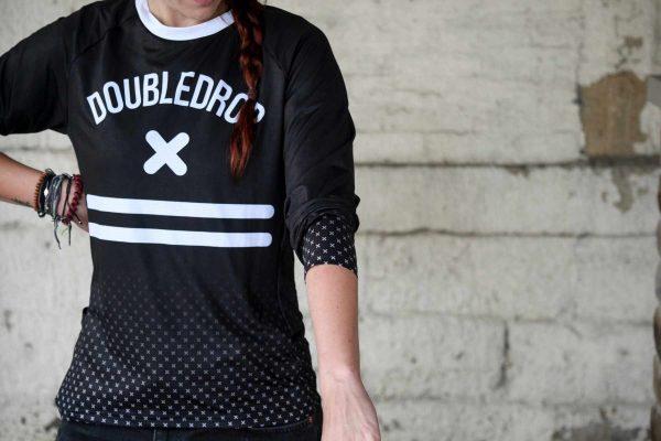 Double Drop Cross Fade Women's Jersey Front Single Track Magazine