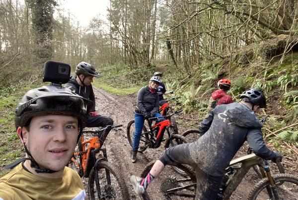 Will brett bikes Cannondale Ebike Demo Day Double Drop 2020 Team