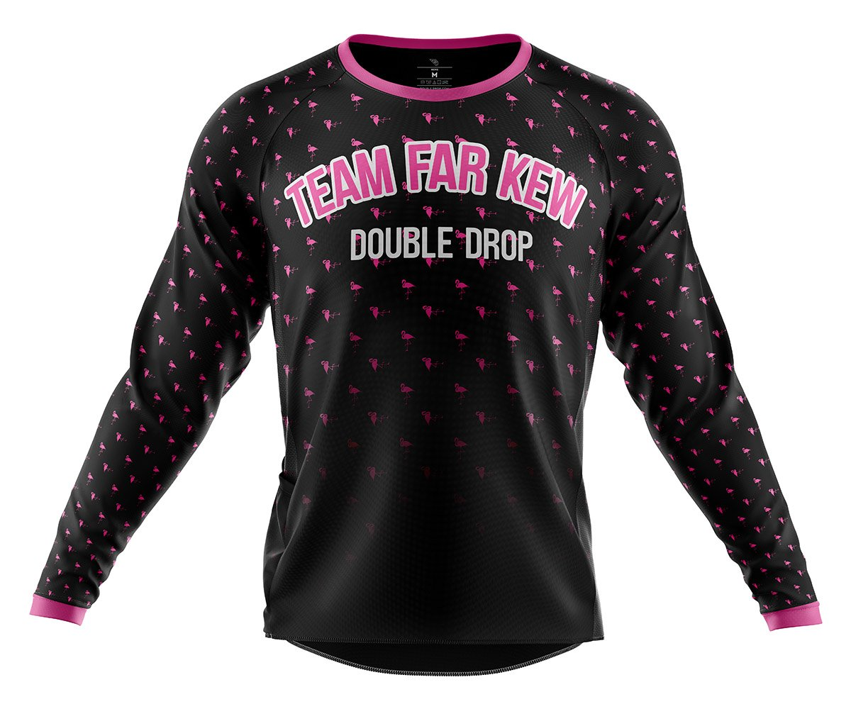 Double Drop Team Far Kew Custom MTB Jersey Front